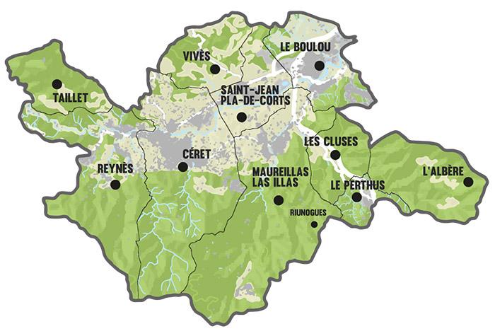 Carte du vallespir